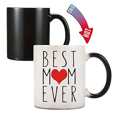 Johiux - Taza de café con cambio de color para el día de la madre, regalo de cumpleaños para mamá