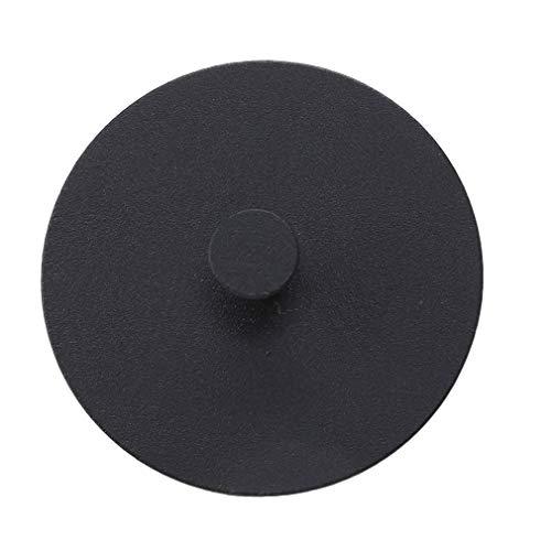 SUNSKYOO Runde Handtuchhaken Edelstahl selbstklebend Bad WC Küche Schlüsselhalter, Technologie schwarz