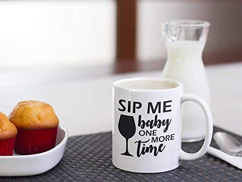 N\A Taza de café Sip Me Baby One More Time Taza de Sip Me Baby One More Time Taza de Britney Spears Taza Divertida Taza con Letras de Canciones Taza de música Pop Tazas de café para Hombres y Mujeres