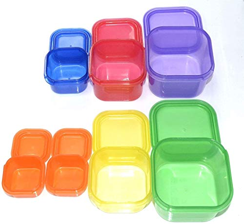 7 PIECE PORTION CONTROL CONTAINER SET – Portion control containers for weight loss – Portion control kit for diet meal preparation – Simple color-coded no-measuring system for healthy living