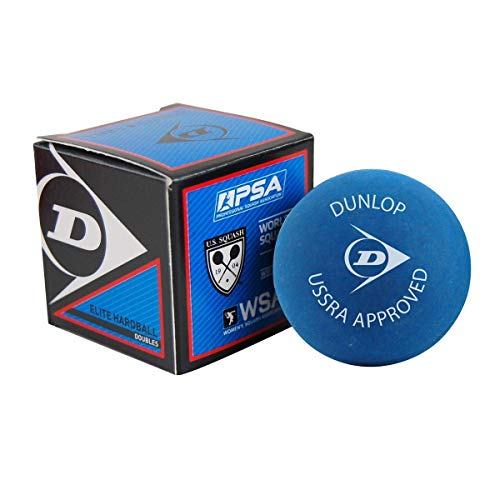Dunlop Sports Squash Doubles Hardball, Blue(Red Dot), Box of 12 (P700202)