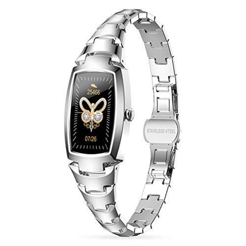 H8 Pro Smartwatch, IP68 A Prueba De Agua Reloj Inteligente De Salud De Pantalla Grande A Prueba De Agua con Ritmo Cardíaco Deportivo Monitoreo De Sueño Y Función De Llamada Bluetooth,Plata
