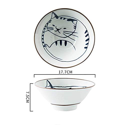 Unter Glasur Handbemalte Schalen Haushaltsgeschirr Reisschale Haferbrei Schüssel Ramen Schüssel Obstsalat Schüssel