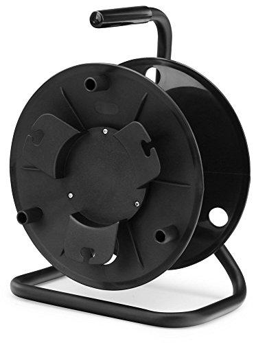 Pronomic KT-100 Kabeltrommel leer (Leertrommel für Kabel, Draht, Seil, Schlauch usw.) schwarz
