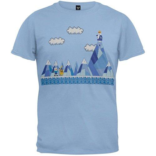Adventure Time Herren T-Shirt Blau Blau Größe L