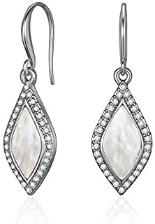 Mestige Carissa Pearl Earrings with Swarovski® Crystals, Gifts Women Girls, Bridal Jewellery