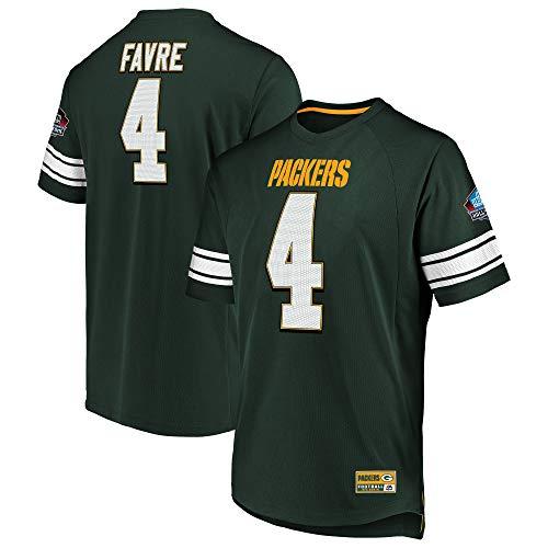 Brett Favre Green Bay Packers Hall of Fame Big & Tall Hashmark Jersey T-Shirt 3XL