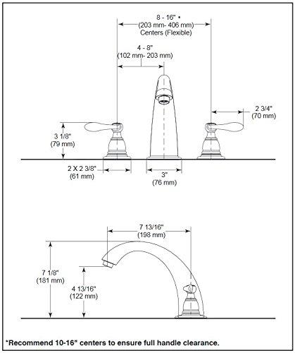 Delta Faucet Windemere 2-Handle Widespread Roman Tub Faucet Trim Kit, Deck-Mount, Oil Rubbed Bronze BT2796-OB (Valve Not Included)