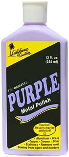 California Custom Purple Metal Polish 12 oz