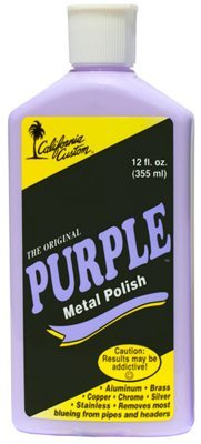 California Custom Purple Metal Polish 12 oz