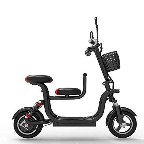 GDDYQ Elektrische step, oplaadbaar, dubbel wiel, E-bike, verstelbare snelheid, 140 kg, maximale belasting, lithium-accu buitenshuis.