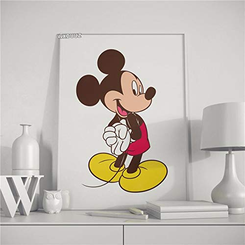 asfrata265 Painting Mickey Mouse Modular Wall Picture Artist Children Home Decoration Cartoon Unframed Poster Canvas Painting K6498 50X60Cm