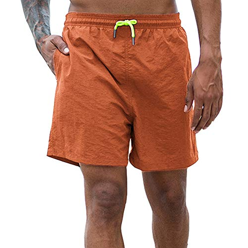 Men's Beach Swim Trunks Shorts Workout Athletic Running Shorts with Pockets
