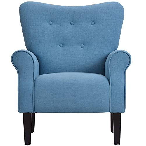 Perfetta e unica poltrona in tessuto confortevole e poltrona imbottita singola può essere utilizzata in stanze e camere da letto di sopravvivenza di uffici modesti, sedia da divano Questa moderna sedi