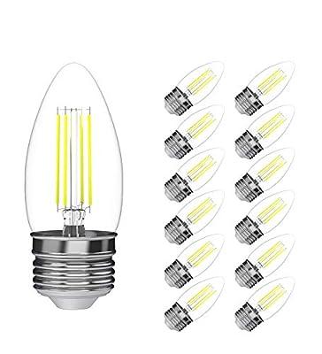 LED Candelabra Bulbs, Viribright B10 (3.2W), 25 Watt Equivalent led Light Bulbs, Warm White (2700K), 270 Lumen, E26 led Bulb Base