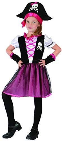 Ciao-Corsara costume travestimento bambina (Taglia 5-7 anni) Ragazza, Rosa, nero, 18176.5-7