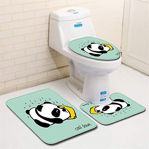 JIUJIUYITECH Tapis de Bain imprimé Coussin de siège de Toilette antidérapant, Eau absorbante (Color : Jaune, Taille : Big)