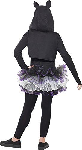 Smiffys Costume Gatto Skelly, Nero, comprende Abito, Coprispalle eCappuccio