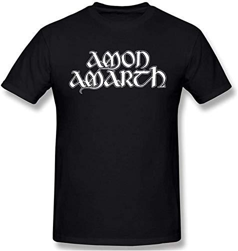 Fashion Men Amon Amarth Logo Fashion Black Short Sleeve T Shirts
