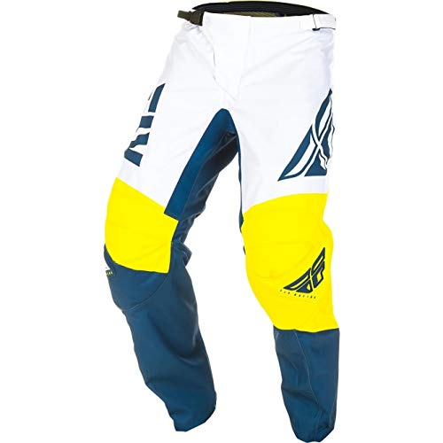372-93324 - Fly Racing 2019 F-16 Youth Motocross Pants 24 Yellow White Navy
