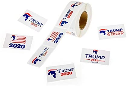 500Pcs Trump 2020 Stickers Patriotic Election Theme Decoration Stickers for Supporting President product image