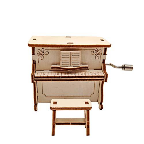 WARMWORD Caja de Música, Calidad Clásico Madera Piano, Mecanismo Joyero Musical, Día de la Madre, Día del Padre, Día de San Valentín, Cumpleaños, Aniversario de Bodas, Navidad
