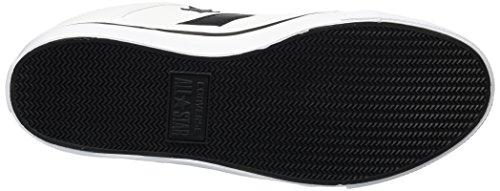 Converse - Zapatillas bajas de lona El Distrito para hombre, Blanco (blanco/negro/blanco), 40 EU