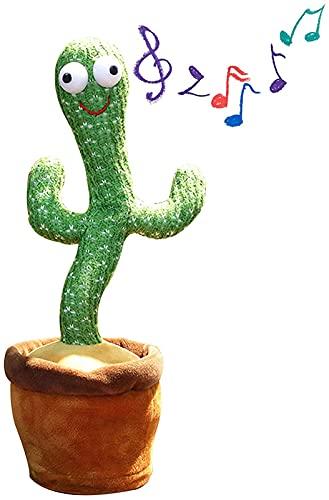 Juguetes de cactus bailando, divertido juguete electrónico de peluche de cactus con canción, adorno para el hogar, regalo de cumpleaños de Navidad para niños