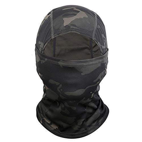 Balaclava Ski Mask Thin Windproof Face Mask for Men and Women (Black Camouflage)