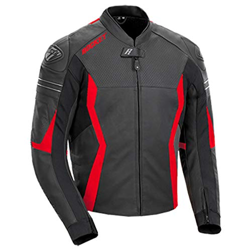 Red and Black Leather Jackets Men's