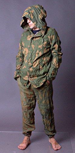 80s New Vintage USSR MILITARY BDU Kzs Soviet Army Soldier Uniform Camo Suit Sz 2 50-4 / Large