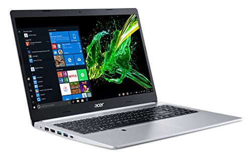 Acer Aspire 5 Slim Laptop, 15.6' Full HD IPS Display, 10th Gen Intel Core i5-10210U, 8GB DDR4, 256GB PCIe NVMe SSD, Intel Wi-Fi 6 AX201 802.11ax, Fingerprint Reader, Backlit KB, A515-54-59W2, Silver