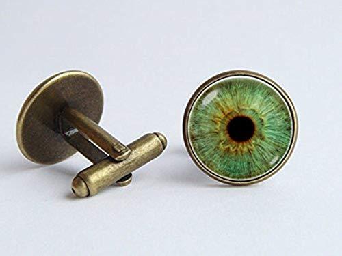 œil Bijoux œil Vert Steampunk Boutons de manchette mauvais œil gothique Boutons de manchette