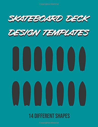 Skateboard Deck Design Templates: 14 different board shapes, especially for surfskate skateboard