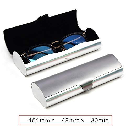 QLSGFBDIM Federmäppchen Brillenetui Aluminium Myopie Brillenetui Jungen kreative Persönlichkeit einfache tragbare leichte Anti-Stress-Mädchen Eye Box Trompete @ style15