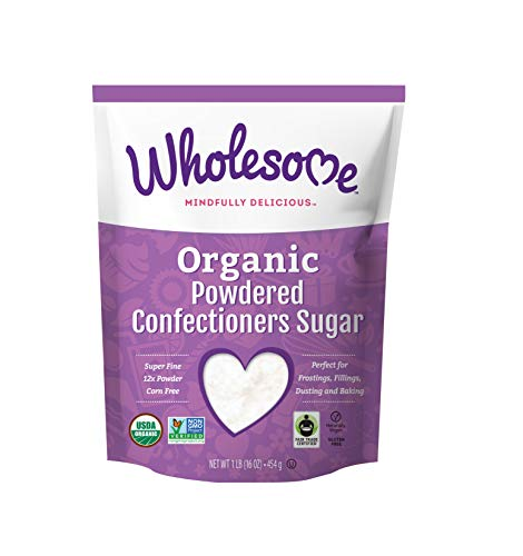 Wholesome Sweeteners Organic Powdered Sugar, 16 Ounce, 6-Pack