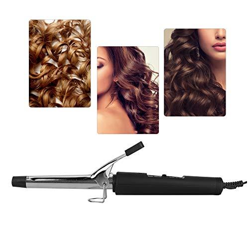 Rizador de pelo, calefacción PTC de 200 ℃ con temperatura constante Rizador de pelo de turmalina de cerámica Pinzas rizadoras eléctricas para peinar el cabello Proteger de queratina en casa o en el sa