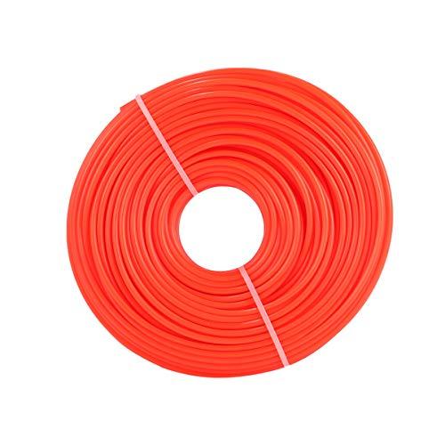 Cabilock 3MM Universal Trimmerfaden Rund Ersatz Rasentrimmerfäden Mähfaden Fadenspule Trimmerfadenspule für Turbotrimmer Motorsense Freischneider Rasentrimmer Rot
