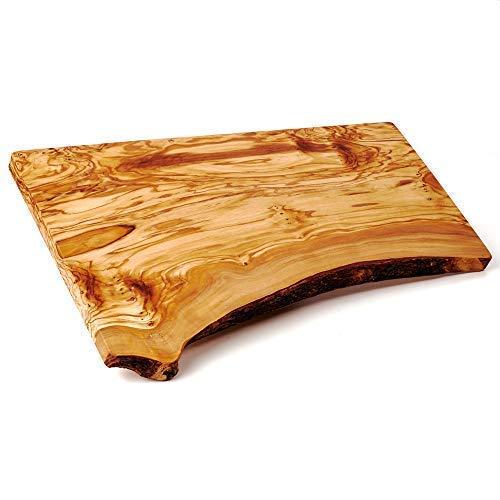 Madera de Olivo Tabla de Cortar Rústico con Corteza - 40cmx20cm
