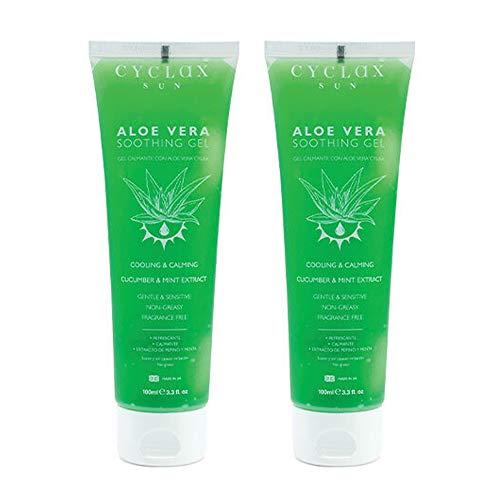 Cyclax Sun Aloe Vera Gel Calmante Pepino y Menta - Paquete de 2