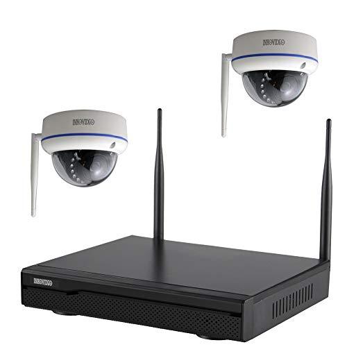 Komplettset WLAN-Set / 4-Kanal Netzwerkrekorder mit 2 x HD WLAN IP Dome Überwachungskamera (Netzwerkkamera)