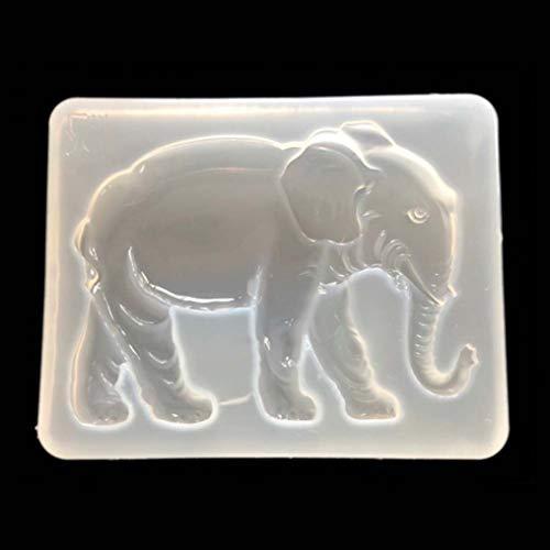 Keppels World-wide Nuovo 3D elefante silicone stampo animale resina fai da te creazione di gioielli Uv stampi strumenti A