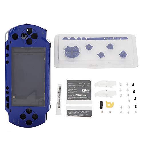 Diyeeni Full Housing Shell Case für Sony PSP 1000, Reparatur Ersatzgehäusesatz mit Tasten Kit, Anti-Rutsch Funktion Haltbare PC Material Starke Schutz für PSP 1000(Blau)