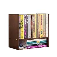 HLL 本棚、ブックシェルフmdfミニデスクトップ本棚、5色,C