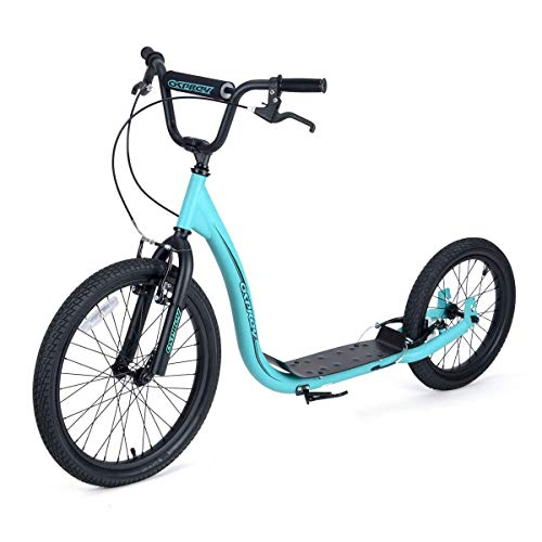 Osprey BMX Big Wheels, Bike Bicycle Off Road Scooter with Adjustable Handlebars and Calliper Brakes, Blue, One Size