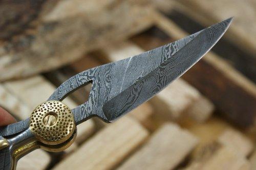 Knife King Baby Blue Custom Damascus Folding Knife