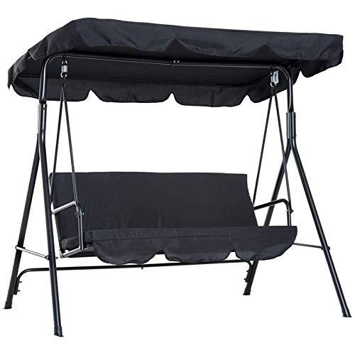 Heritan Kit de dosel de columpio, cubierta de repuesto para toldo de patio, color negro