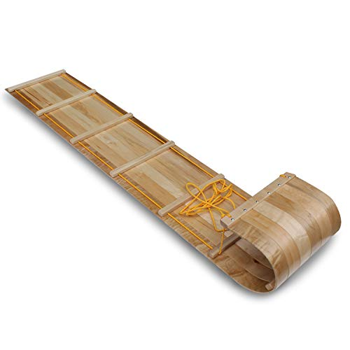 Flexible Flyer Wood Toboggan. Snow Sled