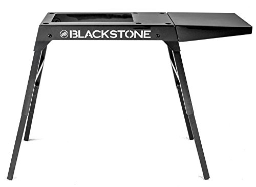 Blackstone Signature Griddle Accessories - Custom Designed for 17 inch/22 inch Tabletop Grill - Portable Griddle Table, Legs and Shelf - Adjustable Legs - Camping Table - Black