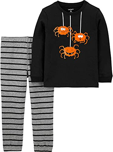 Carter's Baby Boys' Halloween 2-Pc Sets (24 Months, Black Spiders/Heather)